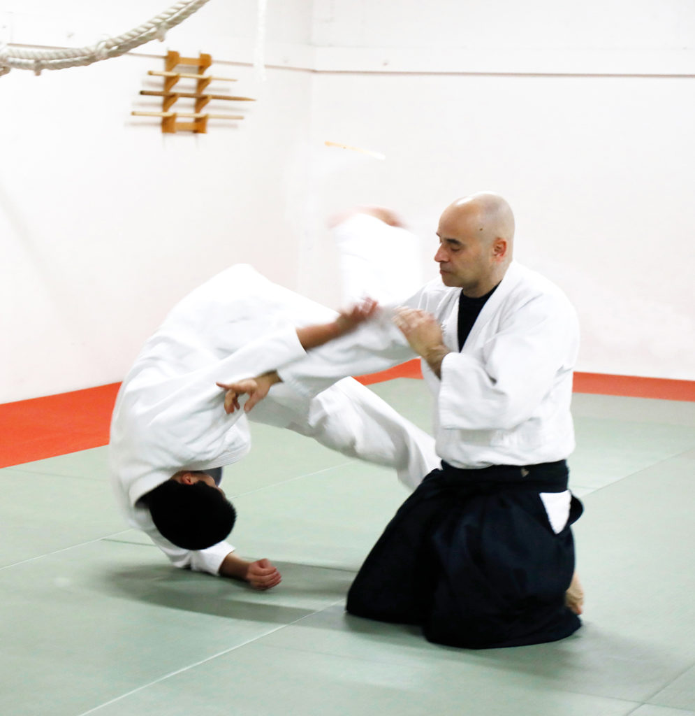 Welcome to Bridgetown Aikido  We are the place for you to start your Aikido training in Portland, Oregon. Aikido is a non-aggressive martial art, based on the principle of blending with an attack and redirecting it, instead of harming or injuring one's opponent.   We are a traditional Aikido Dojo, affiliated with Aikikai Hombu Dojo (Aikido World Headquarters) in Japan. Aikido is an excellent form of physical exercise and self defense. The study of Aikido involves learning smooth,  balanced and coordinated movement in a non-competitive, cooperative atmosphere. We invite you to train with us. All levels are welcome.